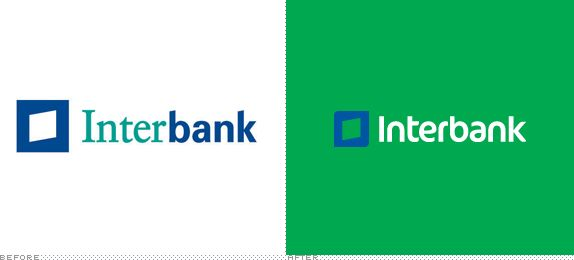 Interbank Logo, Before and After
