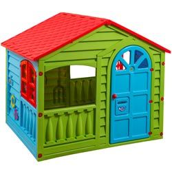 Give your kids their own little haven in the yard! This Happy Garden Playhouse will provide endless fun to loads of children at one. Great for encouraging pretend play, this home will become your children's second best home. This house can be used indoors and outdoors.