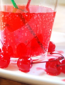 Fun red drink for kids with grenadine for cherry flavoring