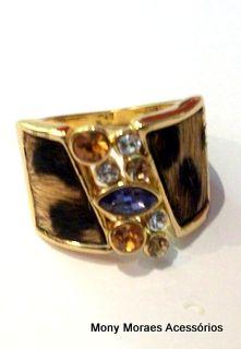 anel onça - semi-jóia