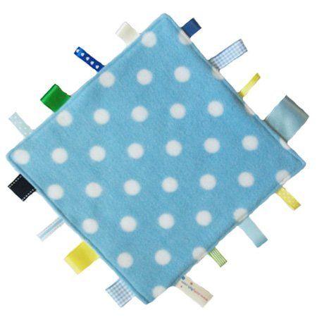 Neue, handgemachte Sicherheitsdecke Steppdecke von Dotty Fish. Hergestellt in England. Blaues Tupfendesign. von Dotty Fish, http://www.amazon.de/dp/B00E0KXZYO/ref=cm_sw_r_pi_dp_yyBdsb0EG61CS