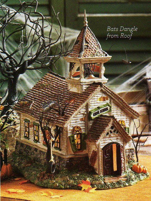 department 56 village buildings ghoul school