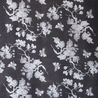 M :: Iván Meade - Mariposa fabric in Carbon #ivanmeade #fabrics