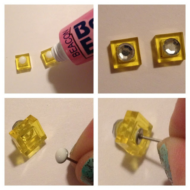 DIY Lego earrings