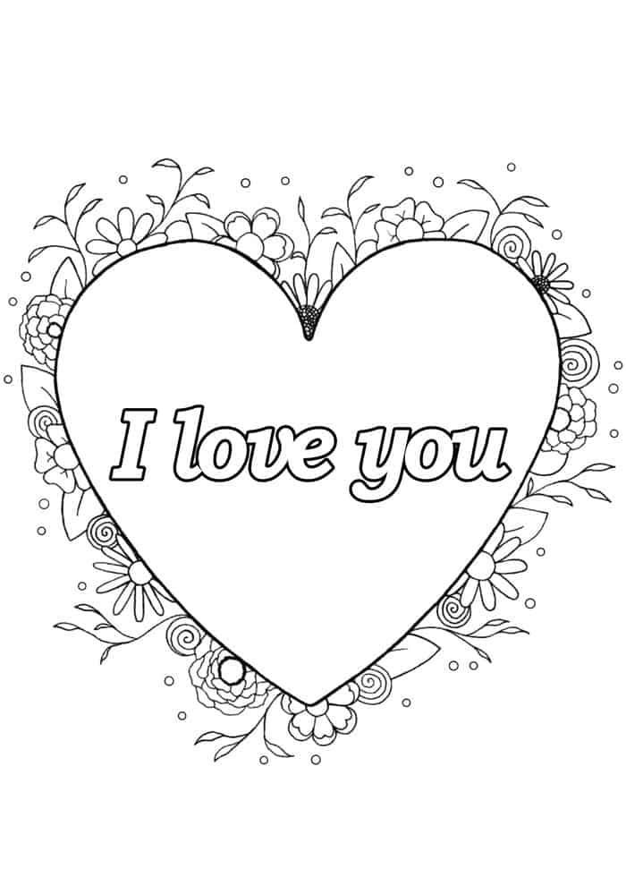 Happy Valentine S Day Coloring Book For Adults Kids 50 Printable Coloring Pages Valentine S Day Coloring Pages Pdf Instant Download In 2021 Valentine Coloring Pages Valentines Day Coloring Love Coloring Pages