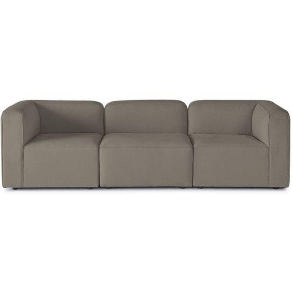 Joybird Logan Mid Century Modern Brown Modular Sofa (127.825 RUB) ❤ liked on Polyvore featuring home, furniture, sofas, brown, brown couch, mid century modern sofa, midcentury furniture, modular couch and mid-century sofa