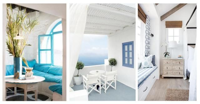 Morski powiem w stylu śródziemnomorskim w małych pomieszczeniach #STYL ŚRÓDZIEMNOMORSKI #WNĘTRZA #MAŁE POKOJE