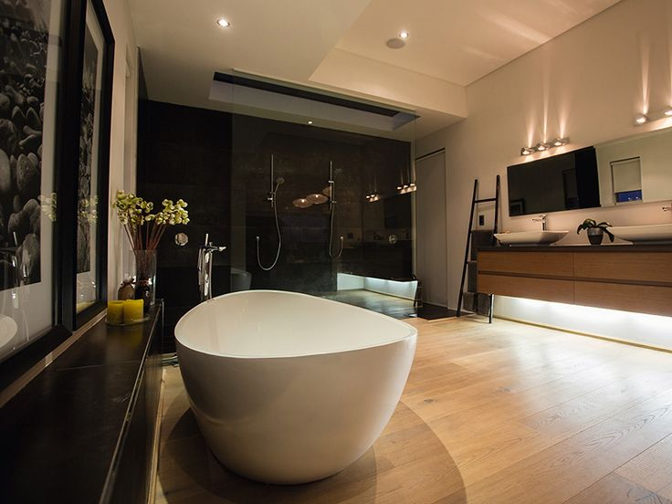 Mafi Timber in bathrooms | Natural Wood Floorboards | Mafi Oak Character White + Natural Oil flooring