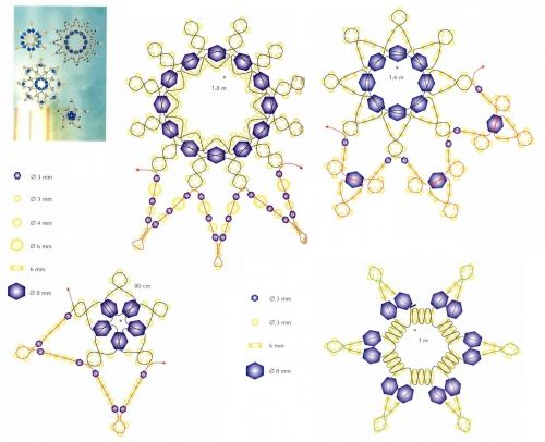 snowflake schema--Use these as the beginning of an ornament cover