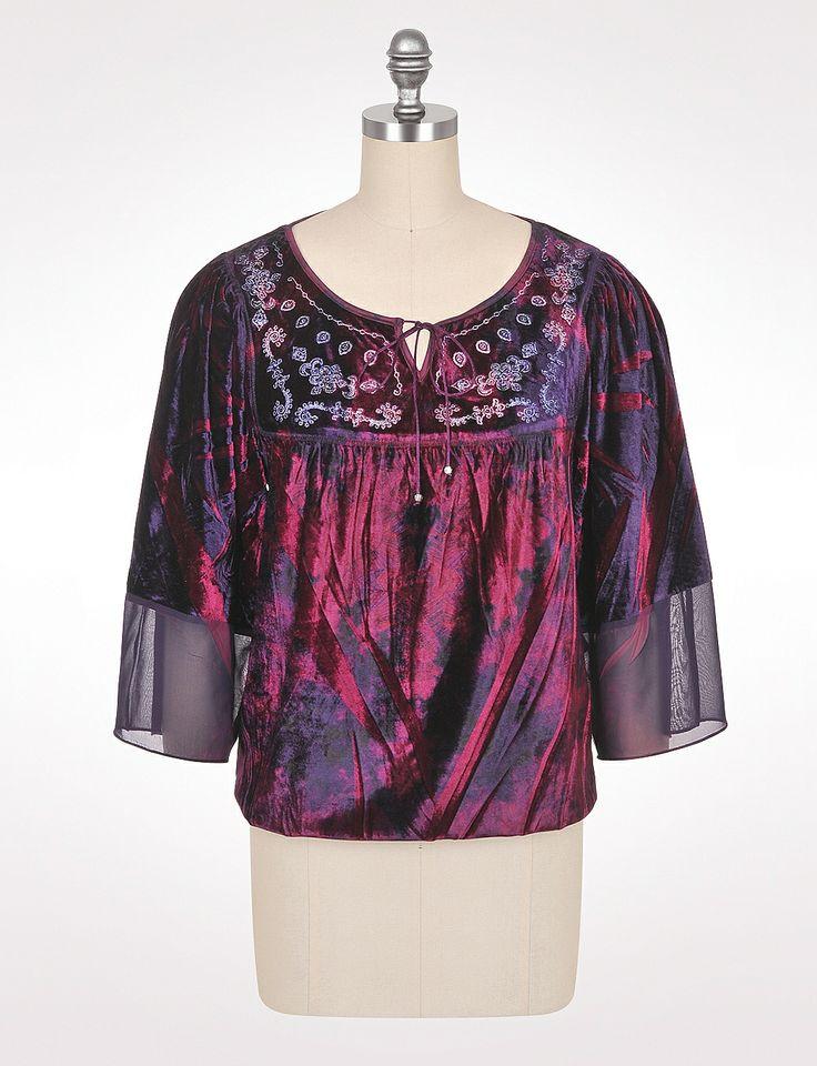 Peasant blouse velvet and shirt blouses on pinterest
