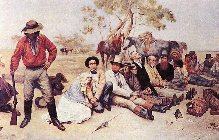 William Strutt. Bushrangers on the St. Kilda Road...I'm assuming that's the same thing as Highwaymen