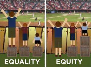 L'égalité versus l'équité