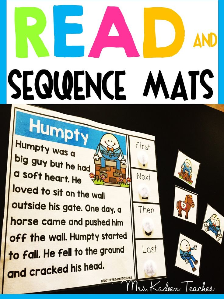 Sequencing, retelling, sequence of events story mats. 60 fun engaging work mats for story sequencing.
