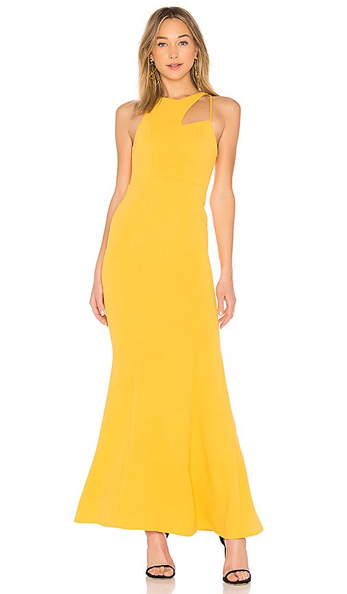 Nbd Rhea Gown In Canary Apparel Gowns Dresses Clothes For Women
