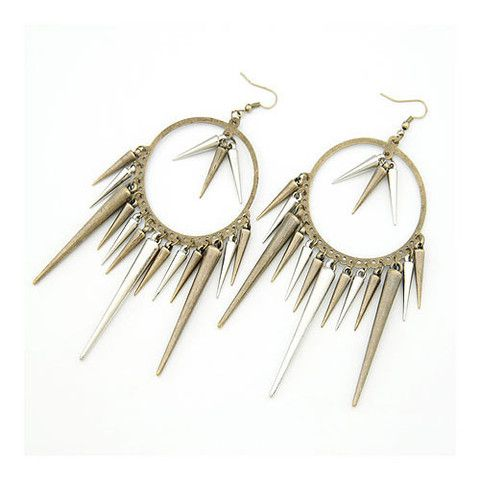 """""""Amrita"""" Spiked Earring $12 http://www.milkymoon.com.au/products/amrita-spiked-earring"""
