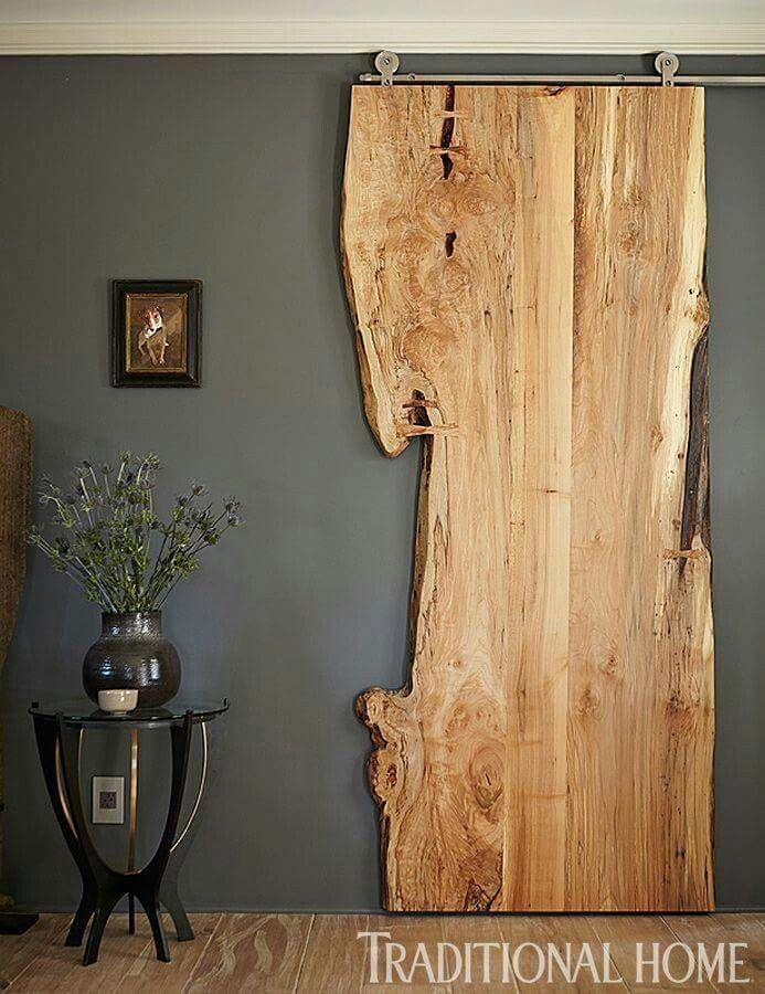 Barn door raw timber