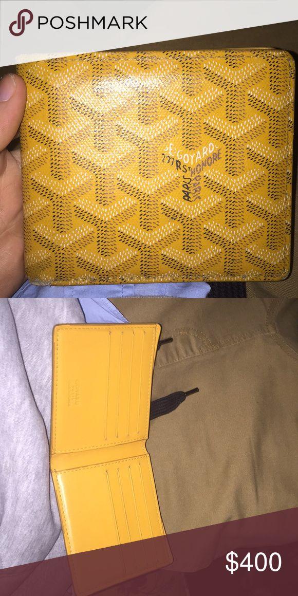 Goyard wallet Short Yellow fold  goyard wallet Goyard Bags Wallets
