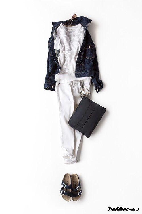 #japanese#white denim#birkenstocks#denim jacket