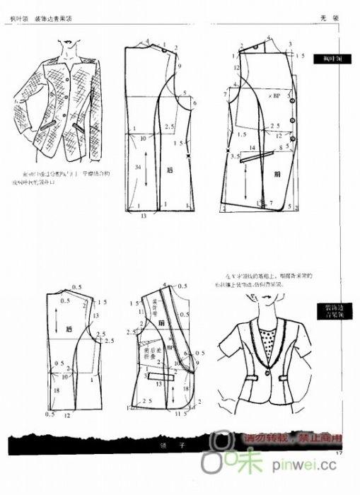 Modeling elements of women's clothing