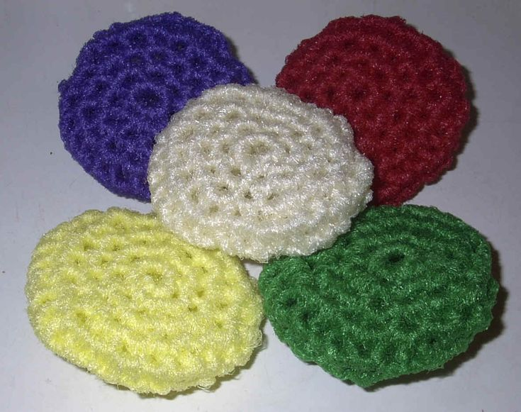 44 Best Patterns For Crocheted Scrubbies And Dishcloths Images On