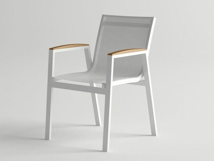 Aluminium garden chair with armrests AMELIA | Garden chair - 10Deka