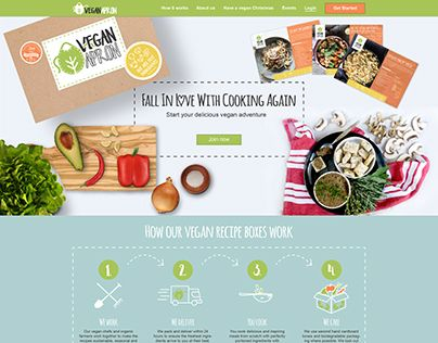 """Check out new work on my @Behance portfolio: """"Vegan apron homepage and landing webdesign"""" http://be.net/gallery/59403427/Vegan-apron-homepage-and-landing-webdesign"""