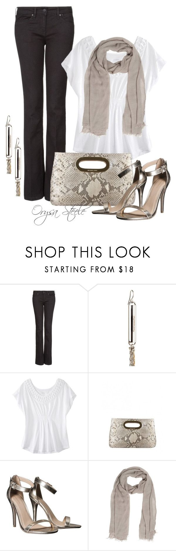 """""""Dinner Date"""" by orysa ❤ liked on Polyvore featuring MANGO, Maria Francesca Pepe, Merona, Michael Kors, Xhilaration and SCERVINO STREET"""