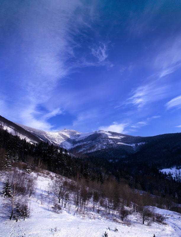 Winter in Beskydy.