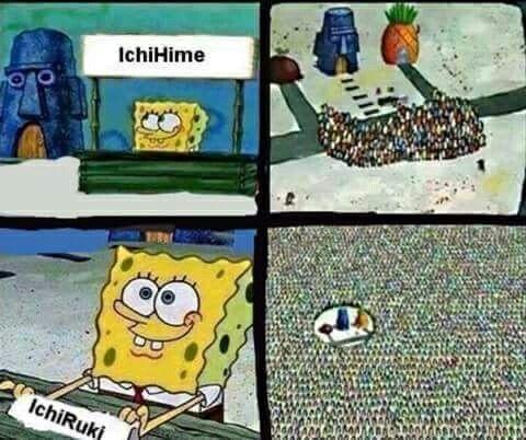 Ichihime Vs Ichruki Bleach Pinterest Spongebob Spongebob
