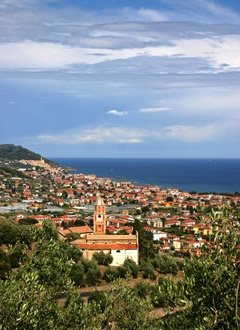Veduta di Diano Marina, Riviera Ligure