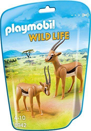 Playmobil 6942 Gazelles: Ce sachet qui contient deux gazelles vous permettra de compléter le centre de soins pour les animaux de la savane…