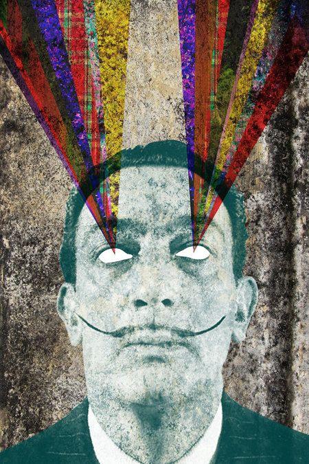 Salvador Dali Abstract Print, Collage Poster, Modern Art, Surrealism, Printable, Download, Home Decor. $5.00, via Etsy.