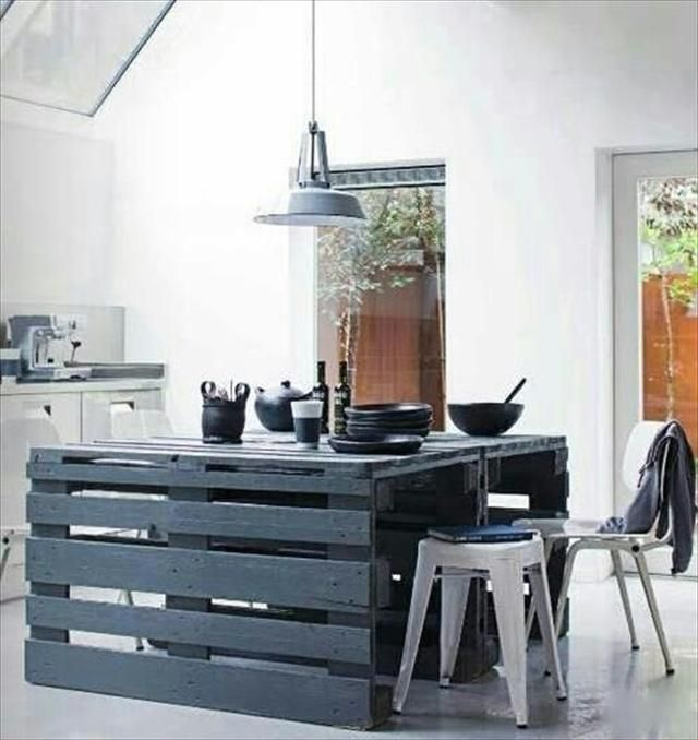 Interior Inspiration   Top Ten DIY Uses Of A Wood Pallet In Home Decor    Kitchen Island Made From A Pallet