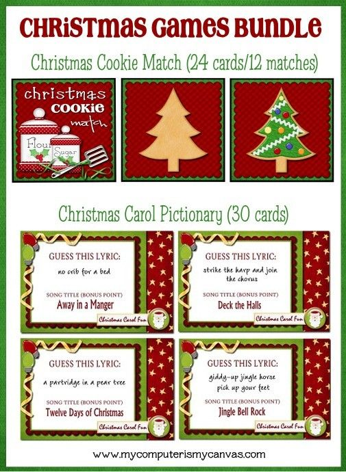 Looking for some cute and fun Christmas games to play at a Holiday party, classroom party or something to keep guests or your family having