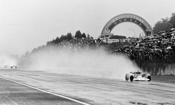 Reliving 'Rush': James Hunt wins the 1976 Formula One Championship over Niki Lauda.   James Hunt drives through the rain soaked Japanese Grand Prix to clinch the 196 Formula One title.  Read more: http://www.autoweek.com/article/20130924/f1/130829778#ixzz2fq6L70zx