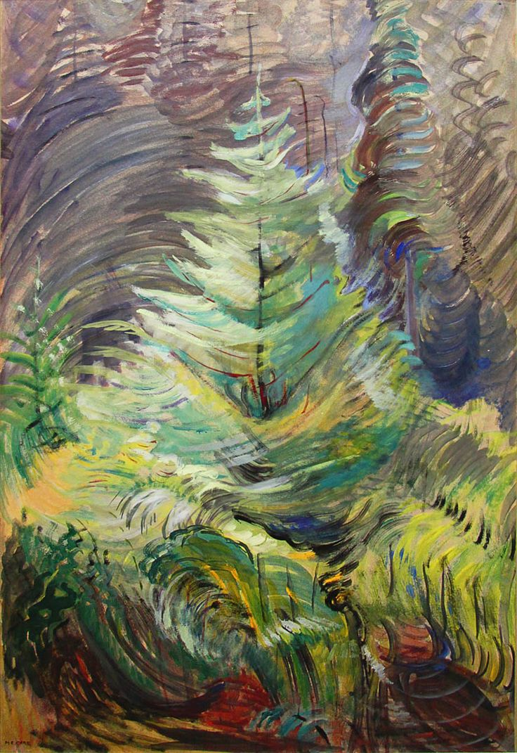 Heart of the Forest (1935) - Emily Carr. this is representing fine lines and very bright colors, and mixing them well.