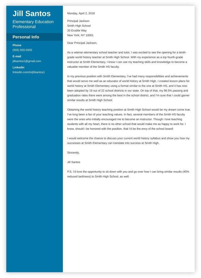 30+ Teacher Cover Letter Cover Letter Designs Teacher cover