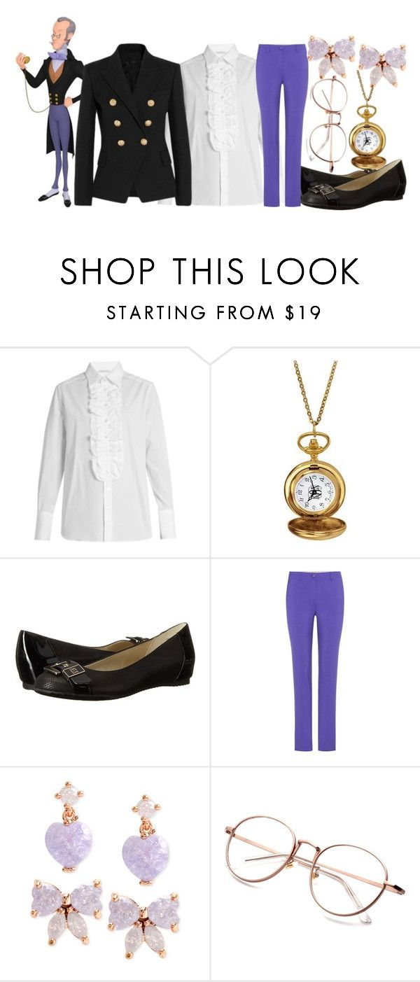 """Baileywick from Sofia the First"" by almostfamous86 ❤ liked on Polyvore featuring Bella Freud, Anne Klein, Etro, Betsey Johnson, disney, disneybound and sofiathefirst"