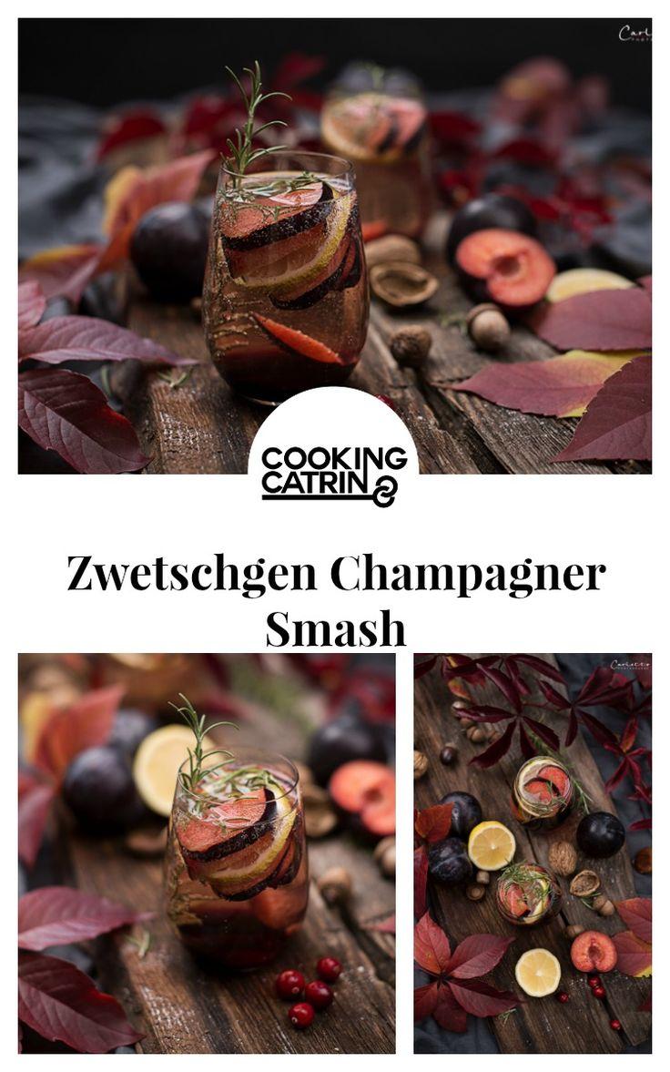 zwetschgen champagner smash, zwetschgen, herbstcocktail, smash, herbst, erfrischend, cocktail, schnell gemacht, schnell und einfach, quick and easy, quickly made, refreshing, plums, fall, autumn, fall cocktail