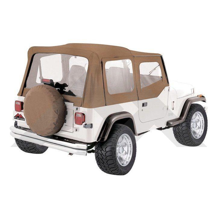Replacement Soft Top, Black Denim (Tinted Windows) | Jeep Wrangler ...