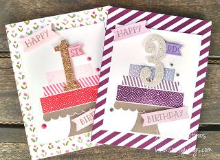 Sootywing Studios: Little Girl Birthday Cards, Number of Years Bundle, Build a Birthday, Stampin' Up!