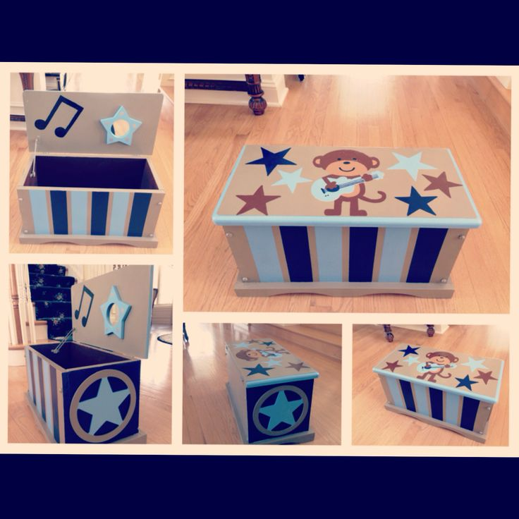 Rockstar Monkey toy chest(hand painted) #rockstarmonkey #toychest #babyshower #gifts  email if interested at email:designsbyauntieb@gmail.com or see my Facebook  page  www.facebook.com/designsbyauntieb