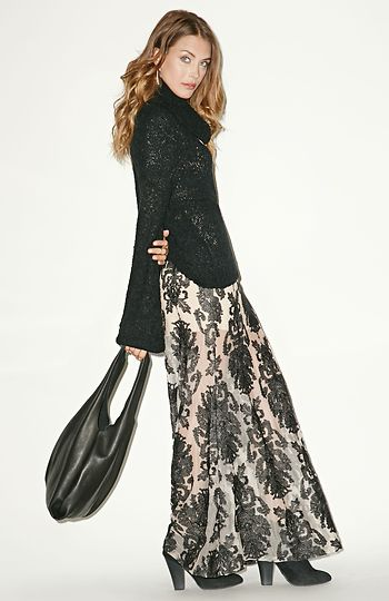 For Love & Lemons embroidered maxi skirt