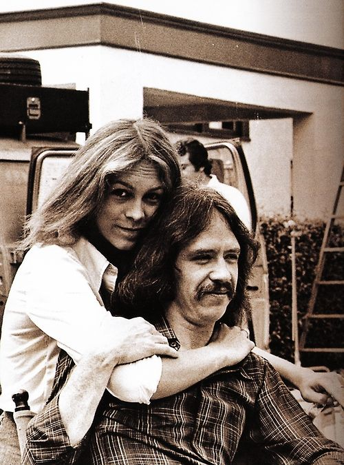 Jamie Lee Curtis & John Carpenter, on the set of Halloween (1978)