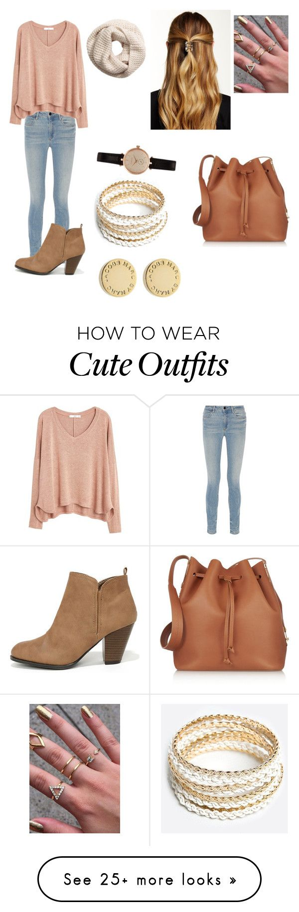 """A cute school outfit"" by nialler5595 on Polyvore featuring Alexander Wang, MANGO, Qupid, Natasha Accessories, H&M, Barbour, Marc by Marc Jacobs, ZooShoo and Sophie Hulme"