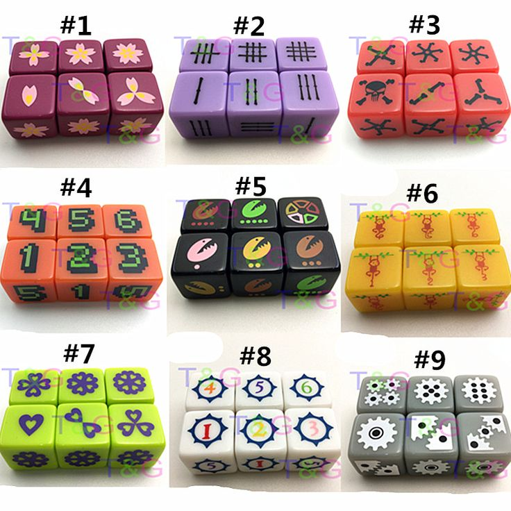 6 Pcs/set 16mm Board Game Digital Dice Orange with Pixel Digital 1-6 Funny Party Drink Decider d6 Dice Family Games Fun Toy //Price: $10.90 & FREE Shipping //     #GAMES