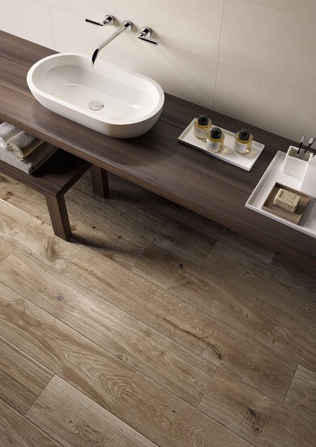 Porcelain stoneware floor #tiles with #wood effect TREVERKEVER by MARAZZI @marazzitile