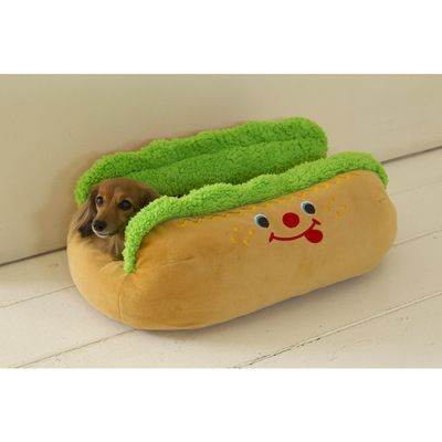 It's a hot dog bun bed! https://www.facebook.com/photo.php?fbid=545609998860833&set=a.156655384422965.40818.155275957894241&type=1&theater