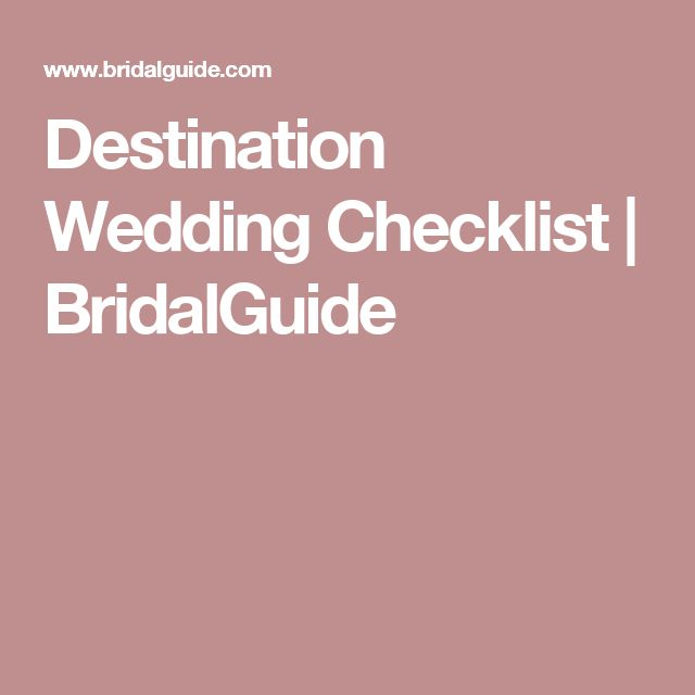 Best  Destination Wedding Checklist Ideas On