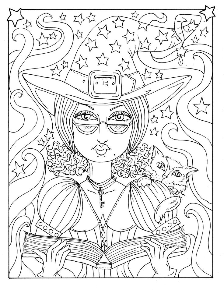 Magical Witches Instant Download PDF files, witchy fun for